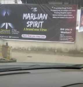 """A church situated in Surulere, Lagos, hosted a deliverance function set to last for one month with the aim of banishing """"The Marlian Spirit."""""""