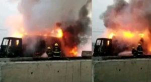 A tanker carrying petrol has exploded along Owerri-Aba express road, killing one person and leaving many others critically injured.
