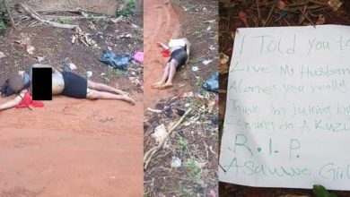 Photo of OMG! Housewife kills husband's side chick, leaves murder note beside corpse (Photos)