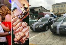 Photo of BREAKING: Idoma Lady And Her Husband Give Out Brand New Cars As Souvenirs At Their Wedding