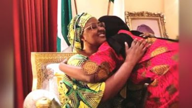 Photo of Buhari's daughter returns from isolation, reunites with family