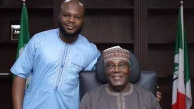 Photo of Atiku's son speaks from isolation, says he hopes to be out soon