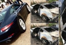 Photo of OMG! Lady burns her boyfriend's multi-million naira car after he dumped her