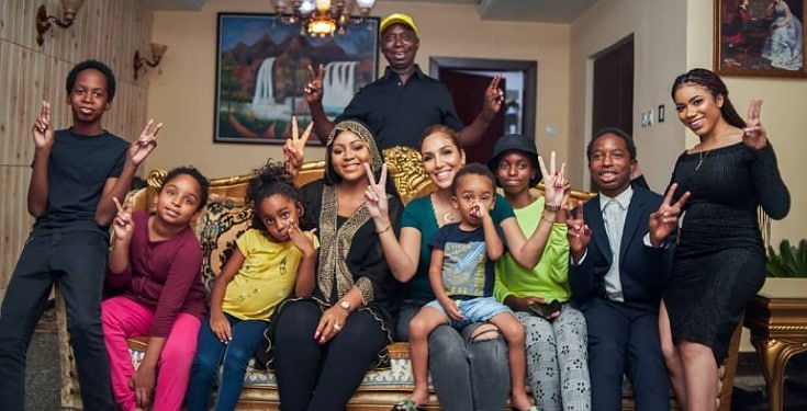 Regina Daniel's Hubby, Ned Nwoko Shows Off His Wives And Children (Photos).   Ned Nwoko, billionaire business man and husband to popular Nollywood actress